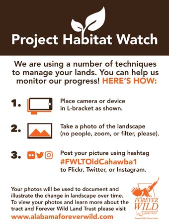 Habitat Watch Sign