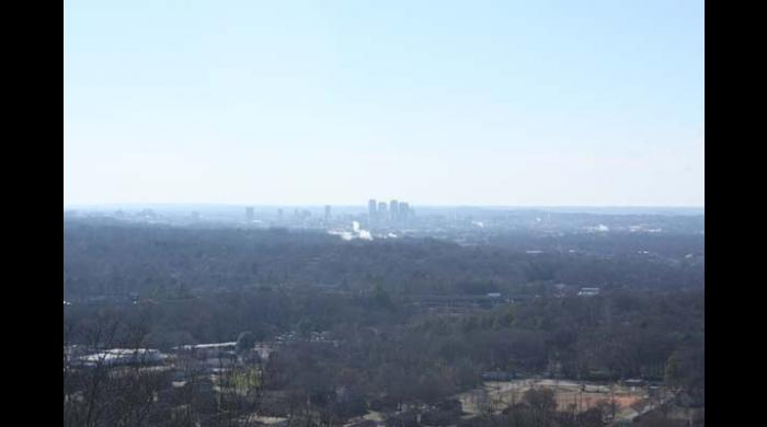 View of Birmingham from Ruffner Mountain