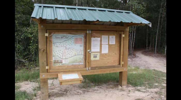 Kiosk at East Trailhead