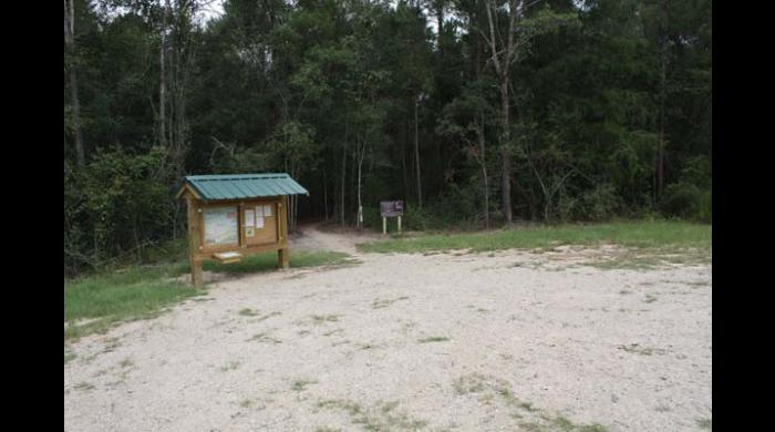 Parking area at the East Trailhead