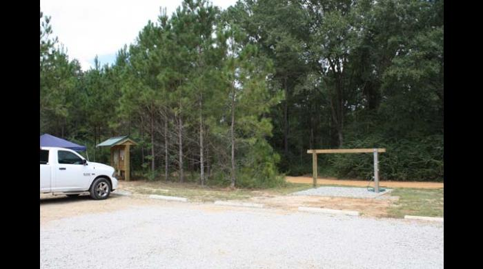 Parking area at West Trailhead