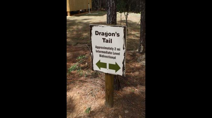 Beginning of the Dragon's Tail Trail at the West Trailhead