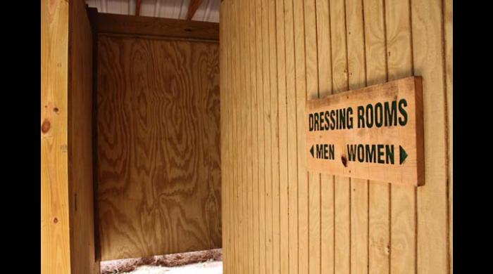 Dressing room building at West Trailhead