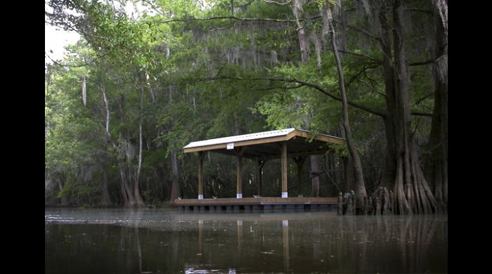 The Bartram Canoe Trail features floating platforms available for rent.
